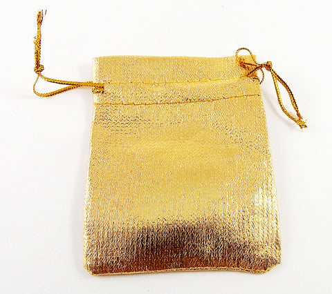 Gold Lamé Drawstring Pouch - The Eccentric Muse