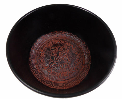 "Flat Sided Ganesha Singing Bowl (6"") - The Eccentric Muse"