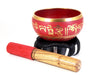 "Red Tibetan Singing Bowl (4.5"") - The Eccentric Muse"