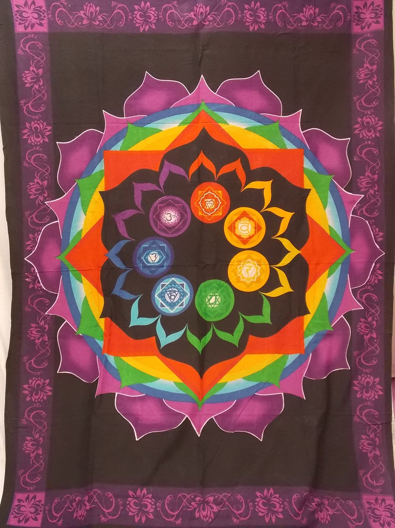 Lotus Chakra Cotton Tapestry - The Eccentric Muse