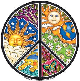 Dan Morris Peace Sticker - The Eccentric Muse