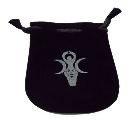 Goddess Symbol Velvet Pouch - The Eccentric Muse