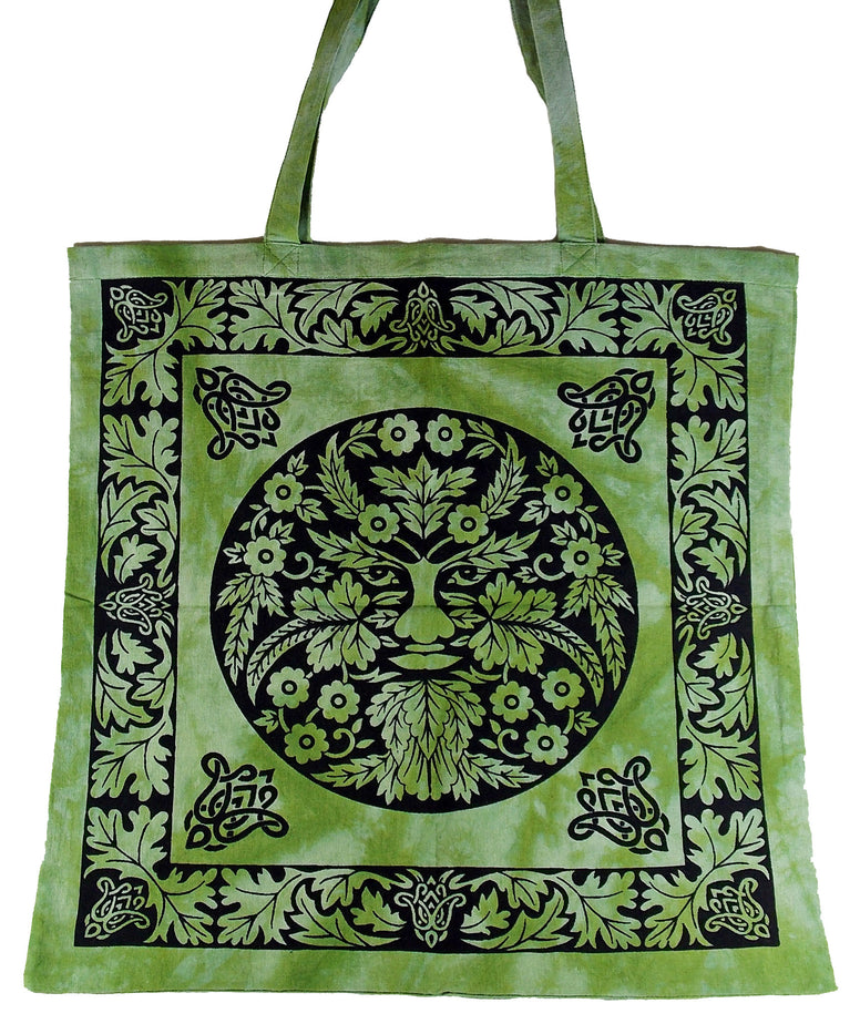Green Man Tote Bag - The Eccentric Muse