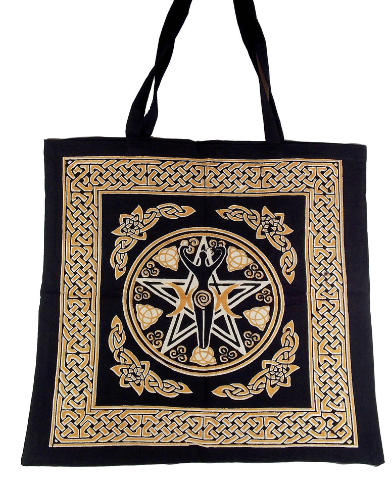Pentacle Goddess Tote Bag - The Eccentric Muse