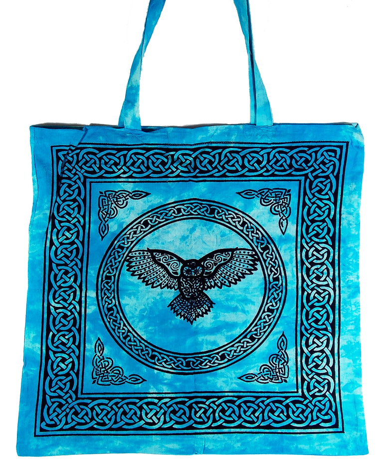 Turquoise Owl Tote Bag - The Eccentric Muse