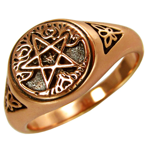 Copper Pentacle Tree of Life Ring - The Eccentric Muse