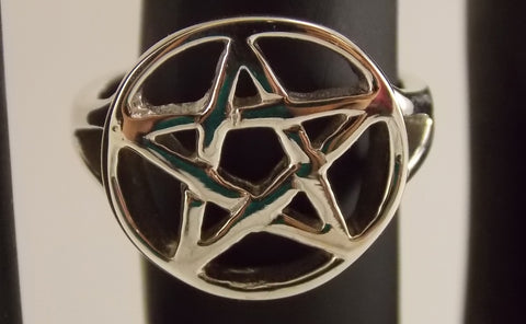 Sterling Silver Pentacle Ring - The Eccentric Muse