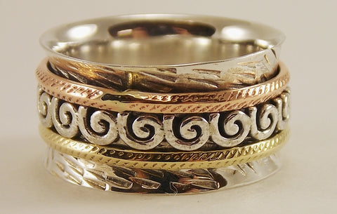 Sterling Silver Spinner Ring - The Eccentric Muse