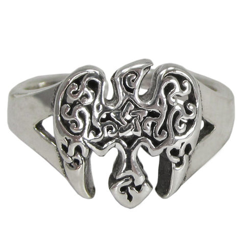 Sterling Silver Raven Pentagram Toe Ring