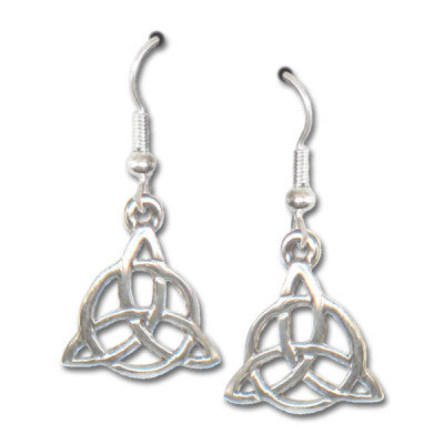 Sterling Silver Triquetra Earrings - The Eccentric Muse
