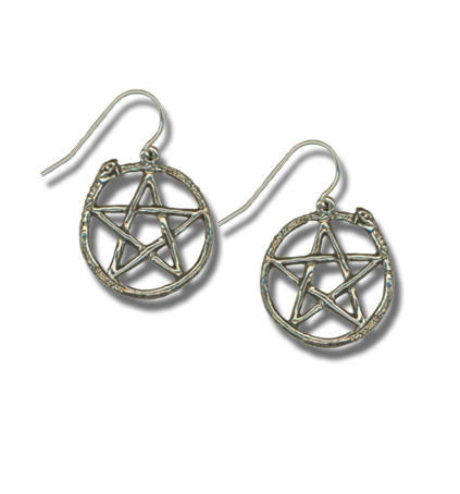 Serpent Pentacle Earrings - The Eccentric Muse