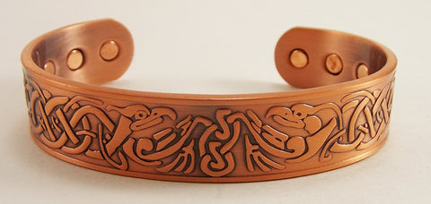 Antique Copper Celtic Phoenix Cuff - The Eccentric Muse