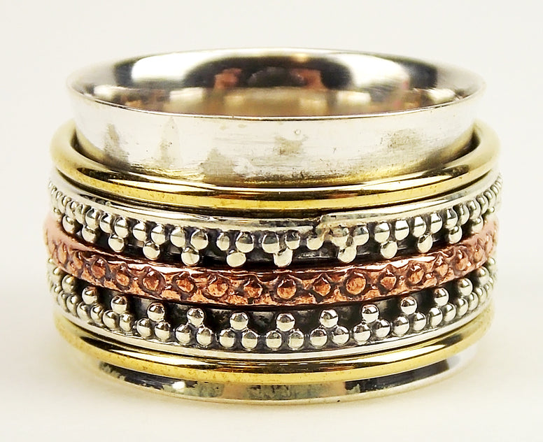 Wide Sterling Silver Spinner Ring - The Eccentric Muse