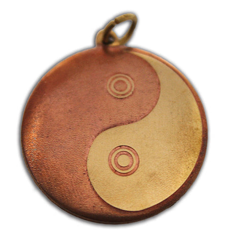 Brass & Copper Yin-Yang Pendant - The Eccentric Muse