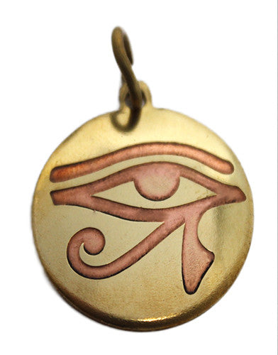 Brass & Copper Eye of Horus Pendant - The Eccentric Muse