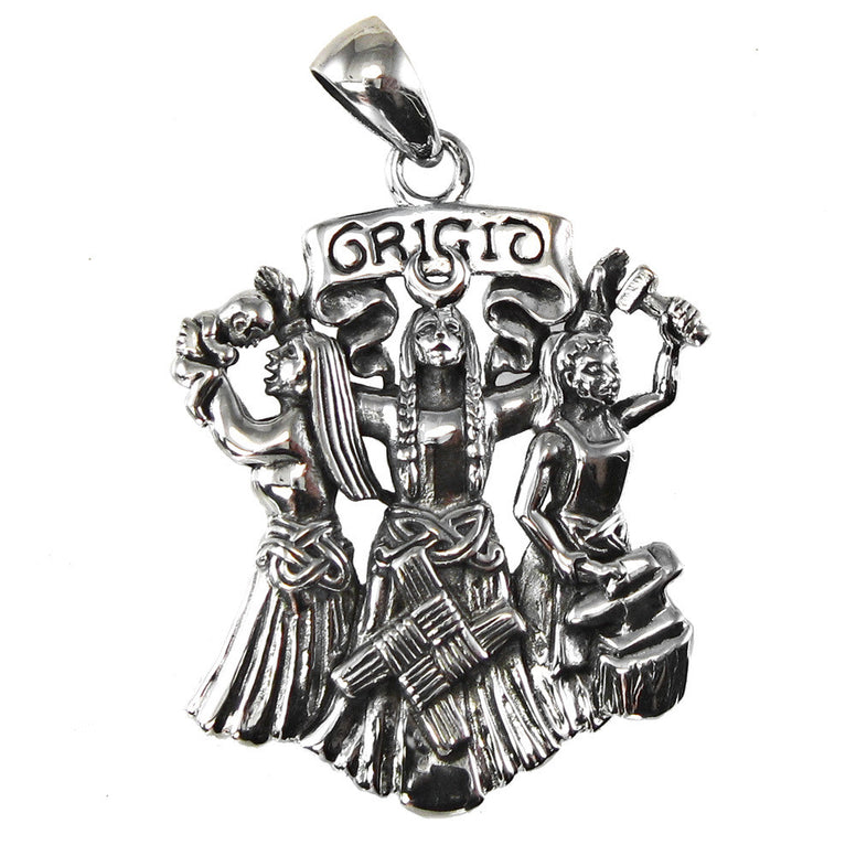 Sterling Silver Brigid Pendant - The Eccentric Muse