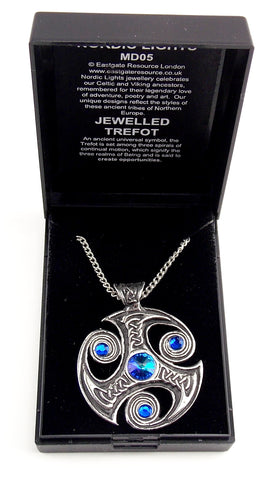 Jeweled Trefot Pendant - The Eccentric Muse