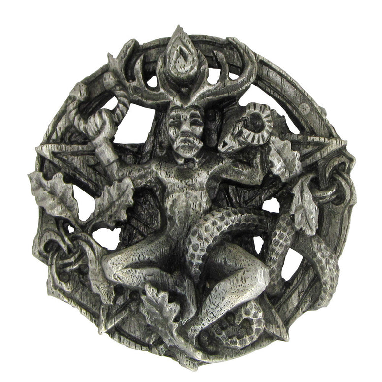 Pewter Cernunnos Belt Buckle - The Eccentric Muse