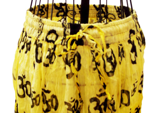 Yellow Tie-Dye Gauze Om Skirt - The Eccentric Muse