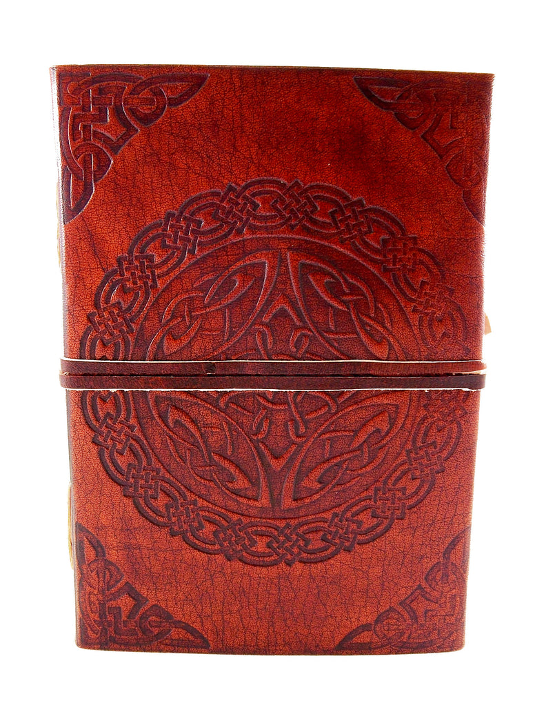 Celtic Knot Leather Journal w/ Strap - The Eccentric Muse