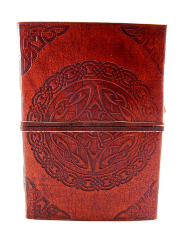 Celtic Knot Leather Journal w/ Strap