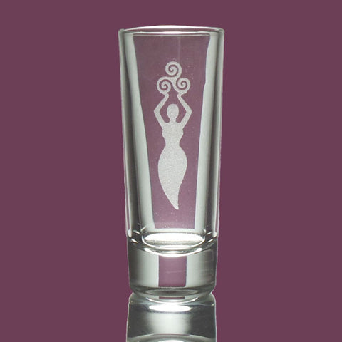 Goddess Etched Shot Glass - The Eccentric Muse