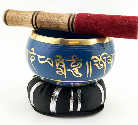 "Blue Tibetan Singing Bowl (4.5"") - The Eccentric Muse"