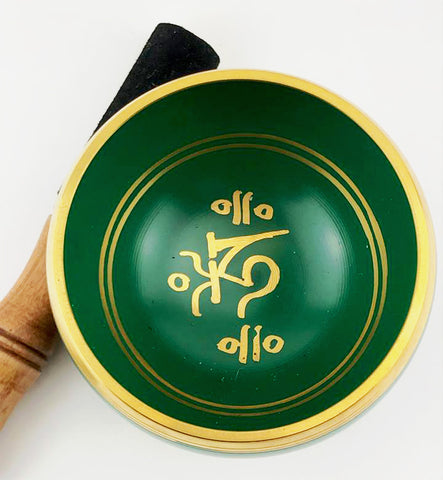 "Green Tibetan Singing Bowl (4.5"") - The Eccentric Muse"