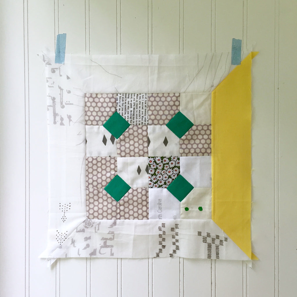 modern sampler quilt along: block K link-up