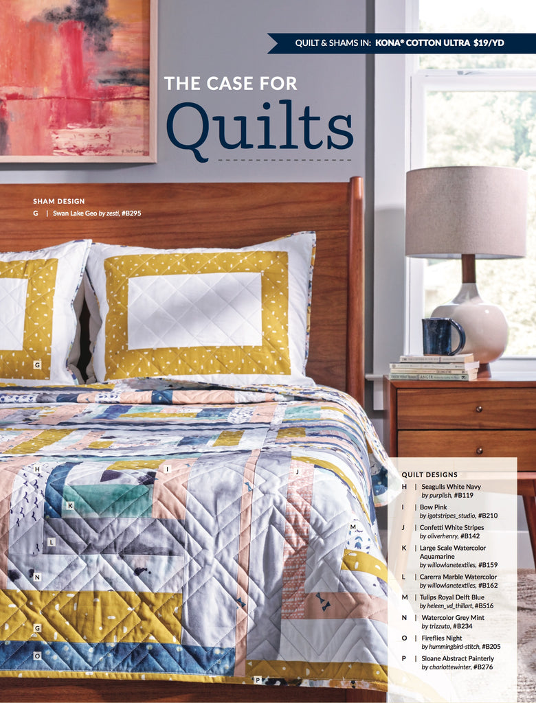 custom quilts for the fall 2017 spoonflower magazine