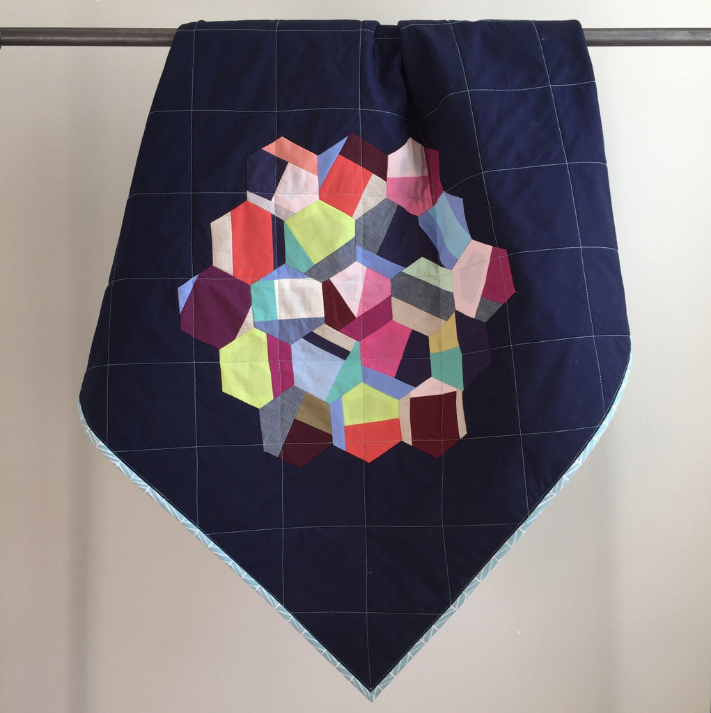 a hexagon baby quilt for natalie