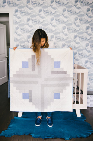 Log Cabin Baby Quilt by Salty Oat, Photograph by April K Photography