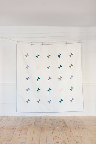 Amish Hourglass Quilt by Salty Oat
