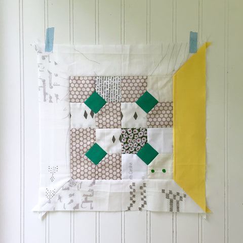 Block K for the Modern Sampler Quilt Along by Salty Oat