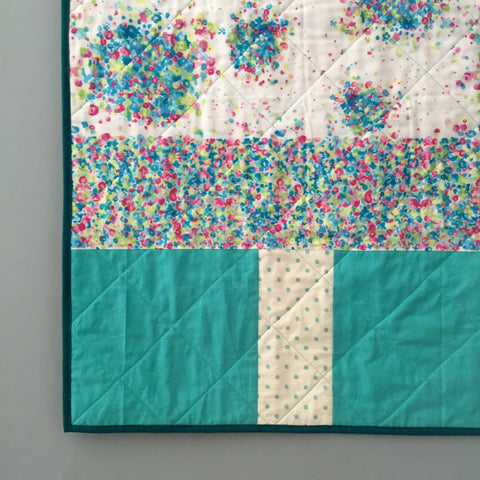 Retro Flowers Quilt by Salty Oat