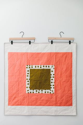 Framed Baby Quilt by Salty Oat