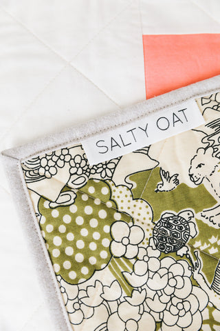 Salty Oat Quilt Label Detail