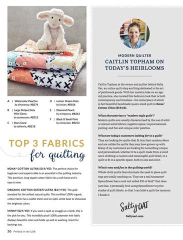 Interview with Caitlin Topham in the Spoonflower Fall 2017 Magazine