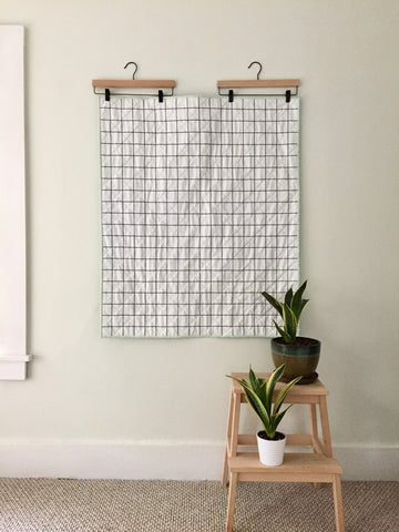 Windowpane Whole-Cloth Baby Quilt by Salty Oat
