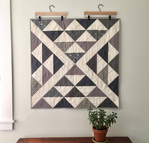 Flying Geese Baby Quilt by Salty Oat