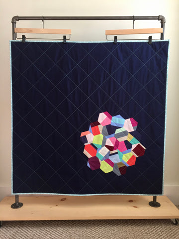 Hexagon Baby Quilt by Salty Oat