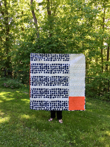 Back of Sunrise Baby Quilt by Salty Oat