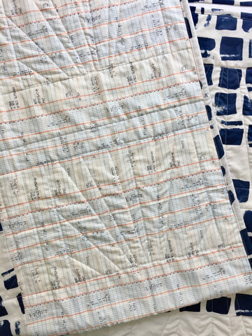 Back Detail of Sunrise Baby Quilt by Salty Oat