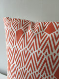 Orange Geometric Chevron Throw Pillow