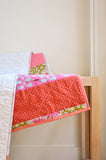 Cotton & Flax Log Cabin Baby Quilt