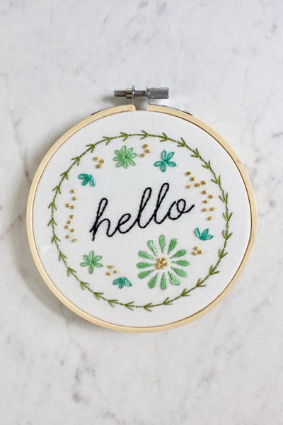 HELLO Hand-Embroidery Kit