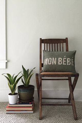 Mon Bebe Nursery Throw Pillow by Salty Oat