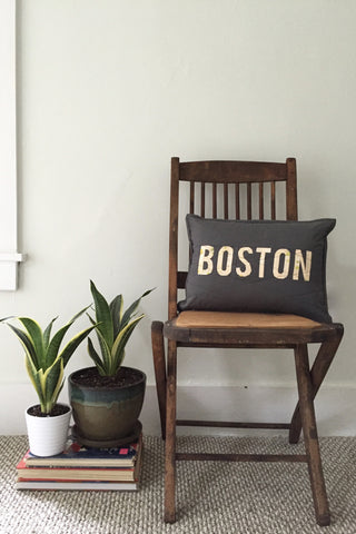 Boston Lumbar Throw Pillow