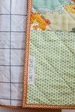 Whole-Cloth Windowpane Baby Quilt