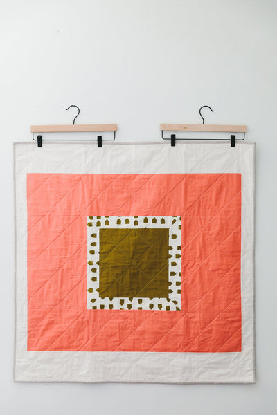 Framed Houses Baby Quilt